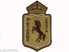 Patch 4°Stormo Caccia Aeronautica Militare Italiana Toppa Stemma Ricamata Desert