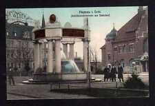 108451 AK Haynau Schlesien 1913 Jubiläumsbrunnen am Bahnhof Haynauer Raubtierfal