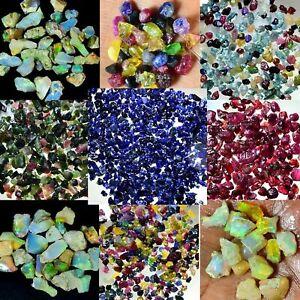 100%Natural Ethiopian Opal Tourmaline Pink Ruby Sapphire Rough Lots Specimen