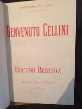 Hector Berlioz Benvenuto Cellini partition chant piano reliée Choudens