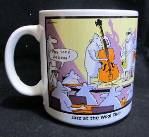 Far Side Coffee Mug Wool Club Jazz Musicians Gary Larson Sheep NIghtclub Music
