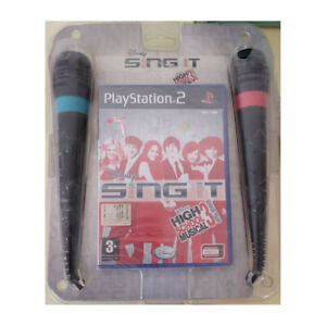 Disney Sing It High School Musical 3 Microfoni Playstation 2 PS2 Nuovo