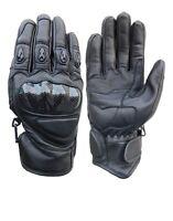 Men's Premium Genuine Leather Street Motorcycle Protective Cruiser Biker Gloves
