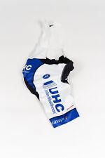 New Men's 2018 Vermarc UHC Pro Cycling Team Bib Shorts, White, Size S