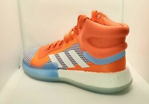 Adidas Marquee Boost ** F97276 ** HI-Res Coral Basketball Shoe Men's sz 10