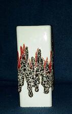 Keramikvase Fohr-Keramik Lava Pottery Space Age 70er 70s Quadratisch Vase 341-15