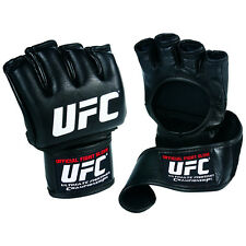 Official UFC Fight Gloves Leather MMA Boxing Training Grappling Wrist Wrap