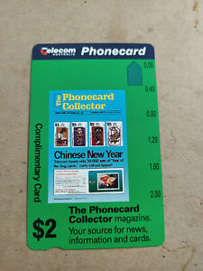Mint $2 Phonecard Collector Magazine Phonecard Prefix 455