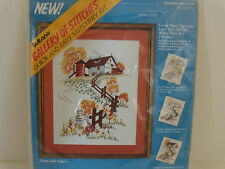 Bucilla Sultana Gallery of Stitches Stitchery Kit Farm With Fence Quick & Easy