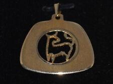 10k Gold pendant with a unique Taurus Horoscope design