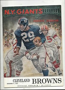 12/9/1962 Cleveland Browns vs New York Giants Program near mint (see scan)