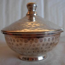 Vintage Hand Hammered 800 Silver Israeli Sugar Box- 74 grams