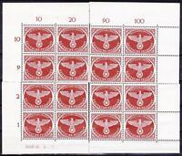 WWII 3rd Reich MNH Feldpost!!!  16 Stamps!!  4 Corner Blocks!