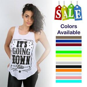 Women Ladies Its Going Down Print Vest Trendy Summer Tank  Shirt Fashion Top
