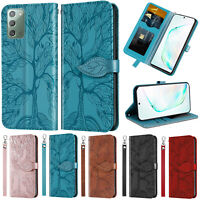 For Samsung Note 20 Ultra A20E A21S A20 Embossed Flip Leather Wallet Case Cover