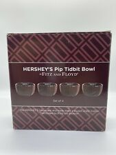 "4 Hershey's Chocolate 3"" Tidbit Bowls Pip Collection By Fitz & Floyd Collectible"