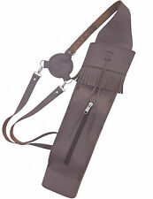 NEW TRADITIONAL FNE BROWN BACK SIDE ARROW QUIVER WITH FRONT SIDE POCKET AQ-120A