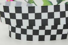 NEW Racing Checkered Flag Police 22mm Ribbon For Cakes Crafts Hair bow Diy Party
