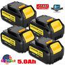 4x For DeWalt DCB205-2 XR 20V 5.0Ah Lithium Battery DCF885 DCB182 DCB206 DCB200
