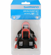 SHIMANO SPD SL SM-SH10 Zero Degree Road Bike Pedal Fixed Mode Cleat Set - Red