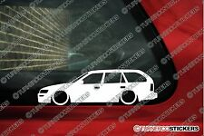 2x LOW Toyota Corolla  estate wagon lowered car stickers (1991-1995 Ae101. e100)