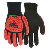 Mcr Safety Ut1950xxl Coated Gloves,2Xl,Knit Cuff,Pk12