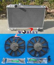 52mm For TOYOTA SUPRA MK3 MA70 7M-GTE/U 3.0L MT 1986-1992 Aluminum Radiator +fan