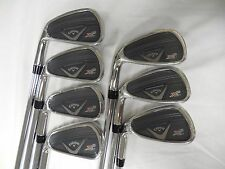 New LH Callaway X2 Hot Pro iron set 4-PW Project X 95 5.5 steel irons