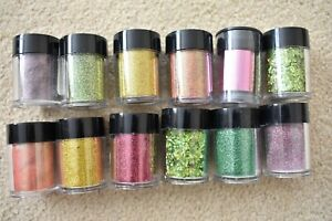 Lecente professional high quality glitters perfect for nail art  JOB LOT X 12