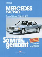 Manuale Officina  Riparazione ITALIANO W 201 1983//1993 Mercedes 190 E190 W201