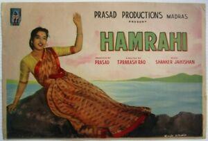 "India Bollywood  promotional card 10""x14"" for 1963 HAMRAHI Rajendra Kumar Sharda"
