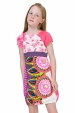 C - Robe Fantaisie Rose Multicolore Strass  MBABANE 74V32E4 Desigual T 7/8 ans