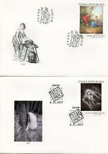 Czech Republic 2017 FDC Art of Taras Kuscynskyj & Norbert Grund 2v Cover Stamps