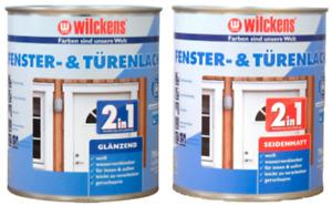 Wilckens Fensterlack Türenlack 2in1 weiß Aqua Lackfarbe - Glänzend / Seidenmatt