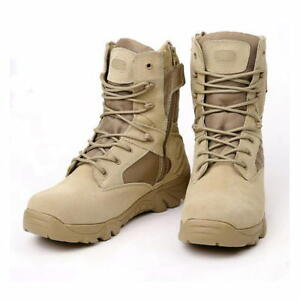 Army Boots Mens Outdoor Tactical Military Lace Up Desert Combat Boots Botas