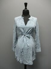 JOJO MAMAN BEBE Blue Polka Dot Belt Maternity Blouse Sample NWT Sz S CC6303