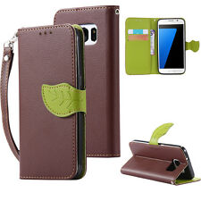 Luxury wallet card slot book leather case cover for Samsung Galaxy S7 S7 Edge