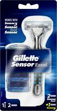 Gillette Sensor Excel Razor Handle + 3 Cartridges