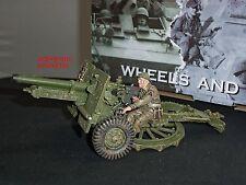 King and country DD204 británica 25LB Pistola de campo militar conjunto figura soldado de juguete