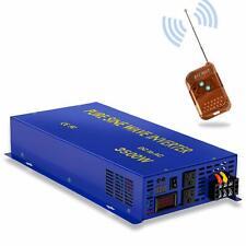 24V to 110Vpower Inverter 3500W Pure Sine Wave Inverter Home Solar Off Remote Rv