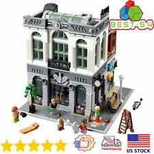 Building Blocks City Expert Sets Street Creator 15001 Brick Bank Model Kids Toys