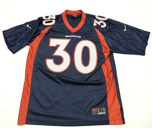 VINTAGE Nike Terrell Davis Denver Broncos Football Jersey Youth Size Extra Large