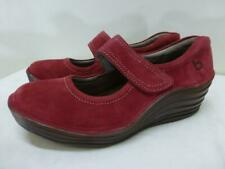 Bionica Flow ruby red leather Mary Jane 4500002 wedge heel Shoes womens sz 6.5M