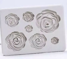 Rose Silicone Fondant Mould Cake Mould Flowers Decorating Chocolate Baking
