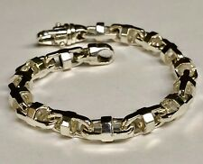 925  Sterling Silver Fashion Anchor Mariner chain Bracelet 7.9 MM 38 Gram  9""