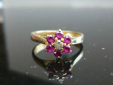 14 Carat Ruby Yellow Gold Fine Rings