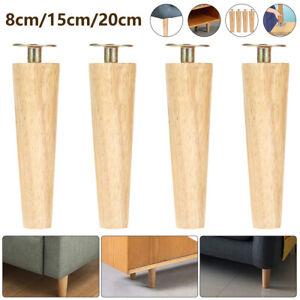4pz gambe mobili legno piedi sostituzione divano sgabello divano armadio piedini