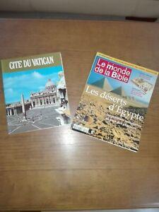 Religion ,lot de 2 livres ,cité du Vatican 1988 ,le monde la bible 1999