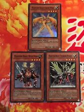 Yu-Gi-Oh 3x Super Rare Phantom Beast Cross-Wing Wild-Horn Thunder Pegasus (LP)