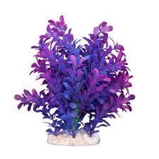 Artificial Plastic Water Plant Purple-blue Deco of Aquarium LW